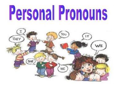 Ficha de Trabalho–Personal Pronouns (3) – Soluções