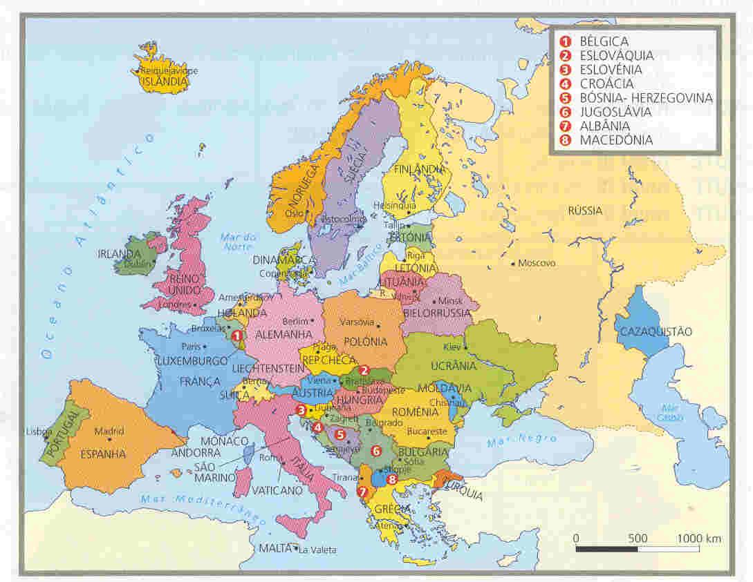 Países e capitais da Europa