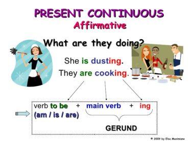 Ficha de Trabalho – The Present Continuous (2) – Soluções