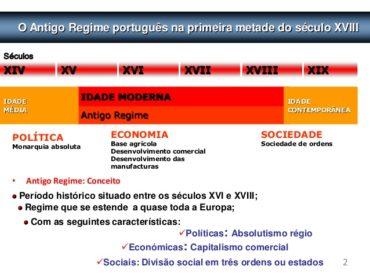 Ficha de Trabalho – O antigo regime português na primeira metade do século XVIII (1)