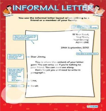 Ficha de Trabalho – An informal letter (1)