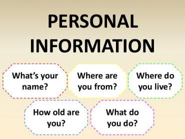 Ficha de trabalho – Personal Information (1) – Soluções